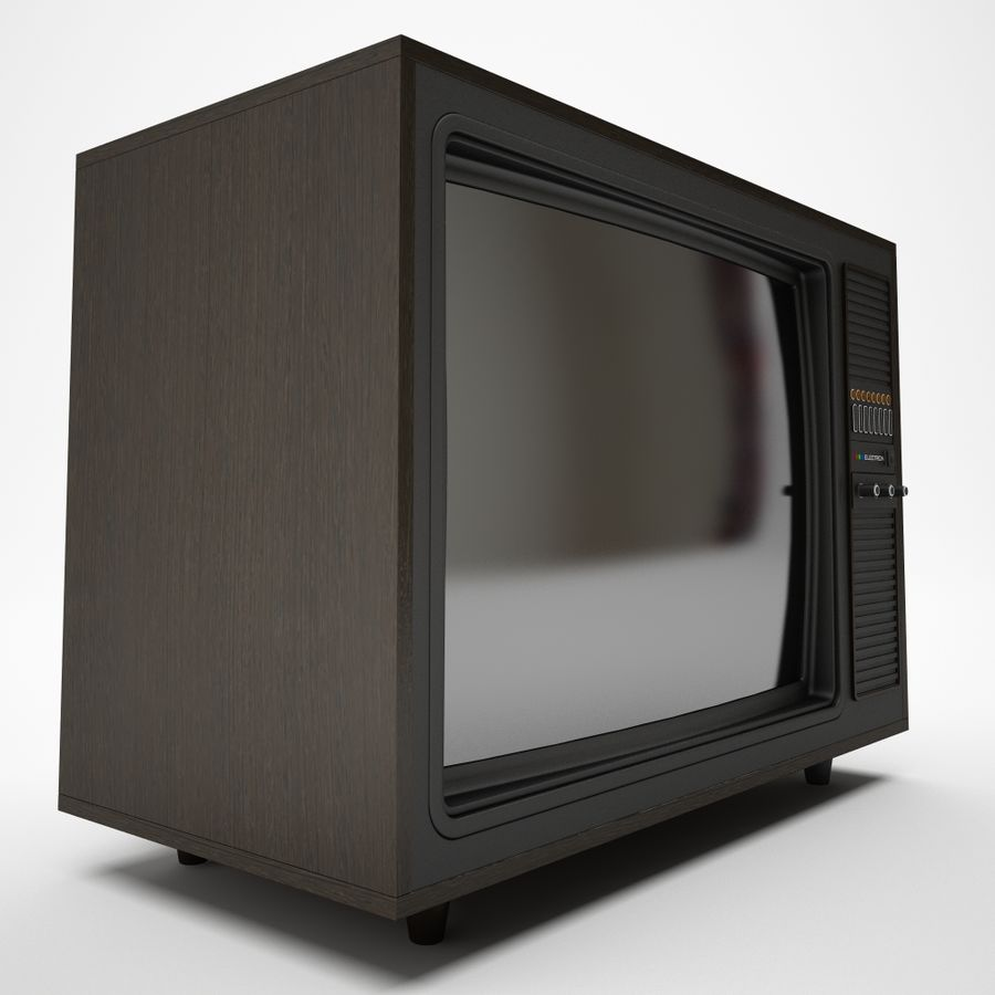 retro tv royalty-free 3d model - Preview no. 3