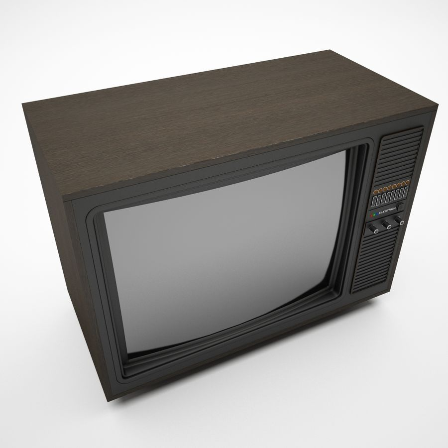 retro tv royalty-free 3d model - Preview no. 4