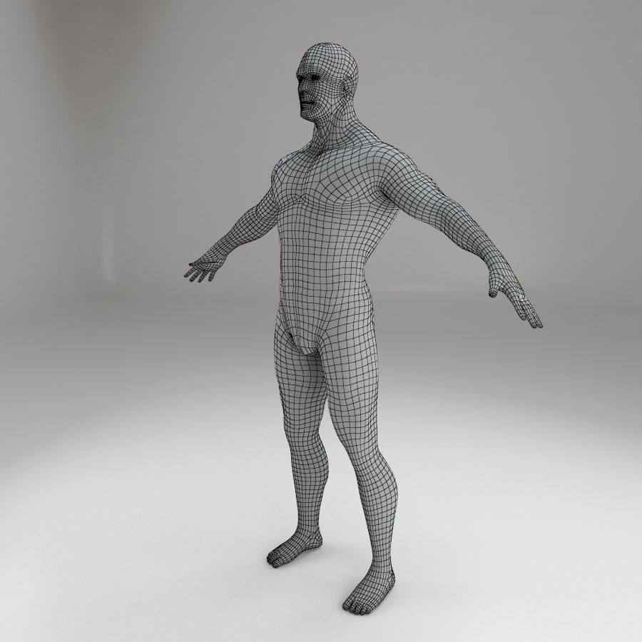男性身体性格 royalty-free 3d model - Preview no. 10