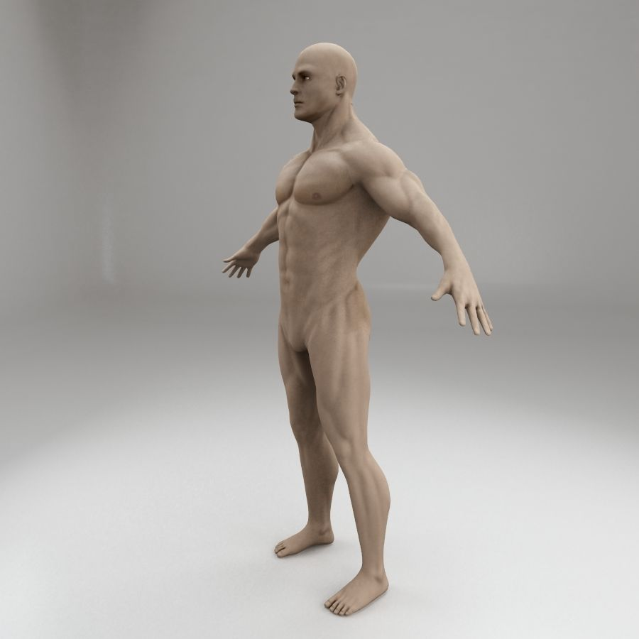 personagem do corpo masculino royalty-free 3d model - Preview no. 3