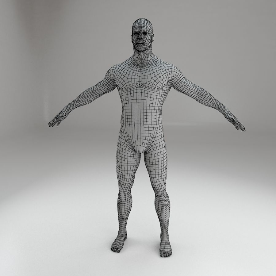男性身体性格 royalty-free 3d model - Preview no. 9