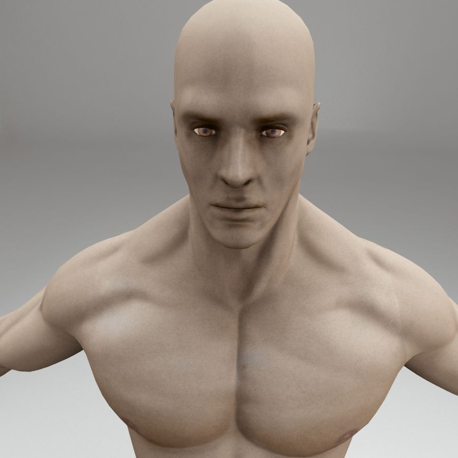男性身体性格 royalty-free 3d model - Preview no. 8