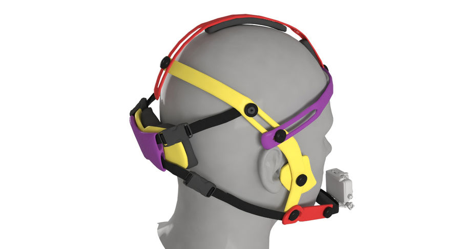 Приключенческая маска для GoPro royalty-free 3d model - Preview no. 3