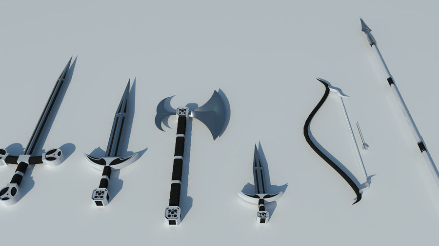 Medieval weapon set royalty-free 3d model - Preview no. 1
