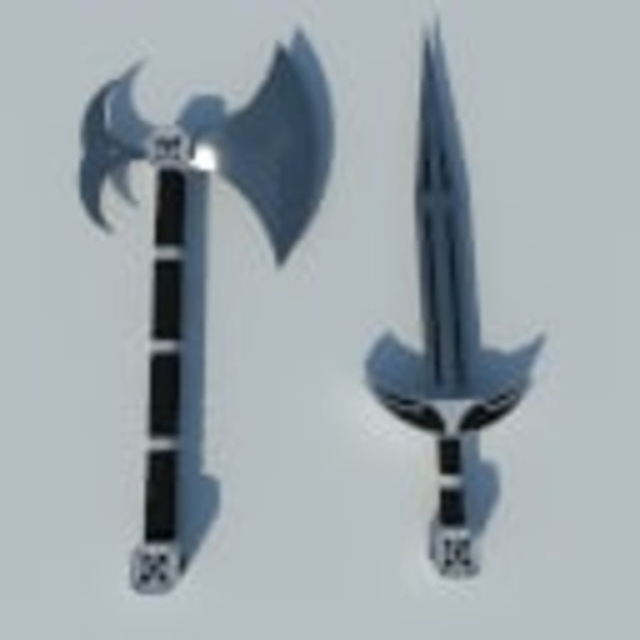 Medieval weapon set royalty-free 3d model - Preview no. 5