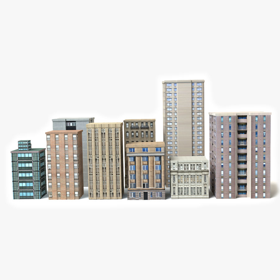 Low-Poly-Gebäude royalty-free 3d model - Preview no. 1
