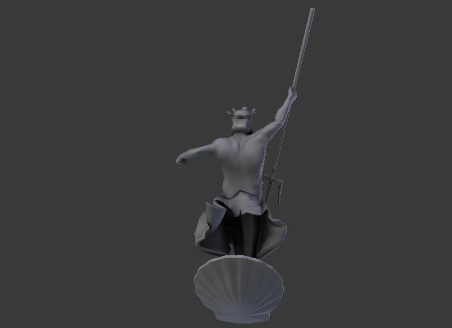 Poseidon royalty-free 3d model - Preview no. 4