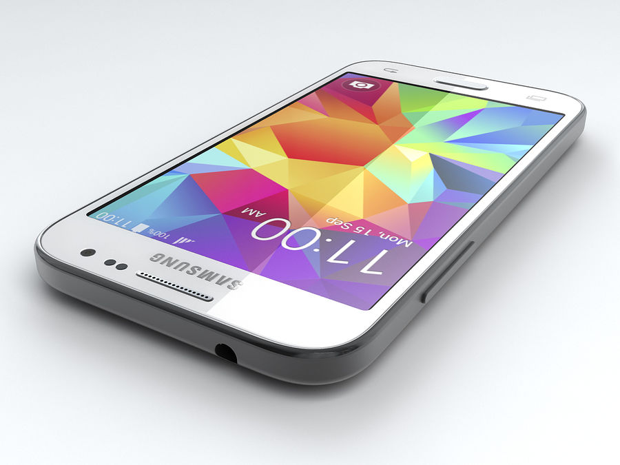 三星Galaxy Core Prime royalty-free 3d model - Preview no. 11