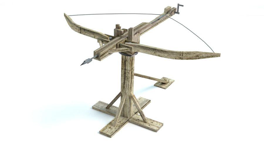 Średniowieczny Łuk Balisty royalty-free 3d model - Preview no. 3