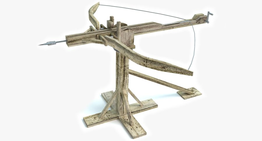 Średniowieczny Łuk Balisty royalty-free 3d model - Preview no. 2