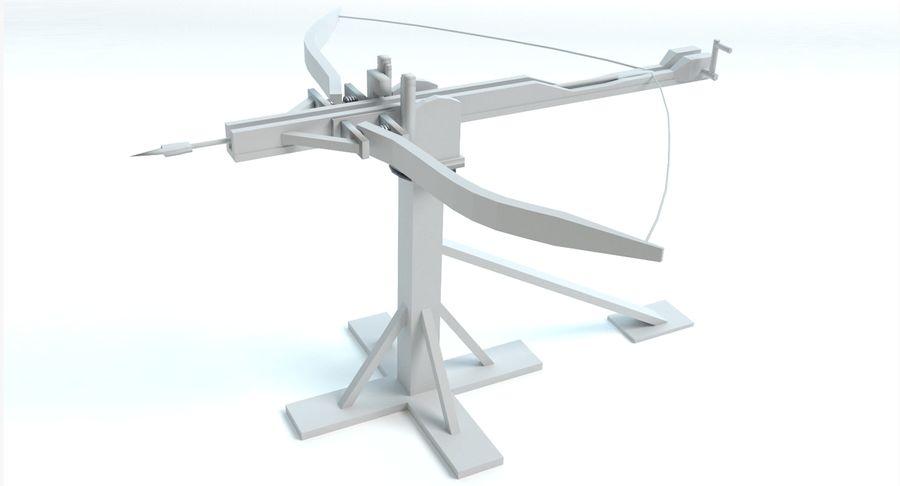 Średniowieczny Łuk Balisty royalty-free 3d model - Preview no. 5