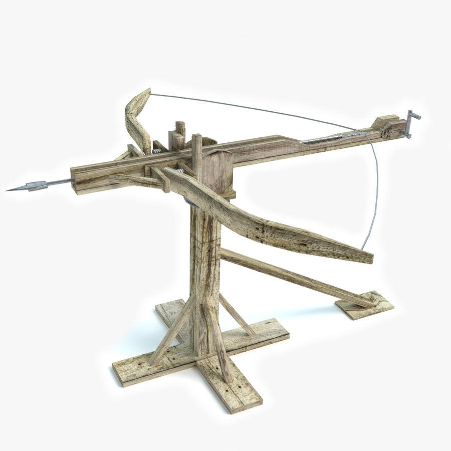 Średniowieczny Łuk Balisty royalty-free 3d model - Preview no. 1