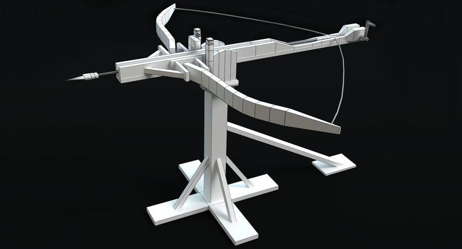 Średniowieczny Łuk Balisty royalty-free 3d model - Preview no. 6