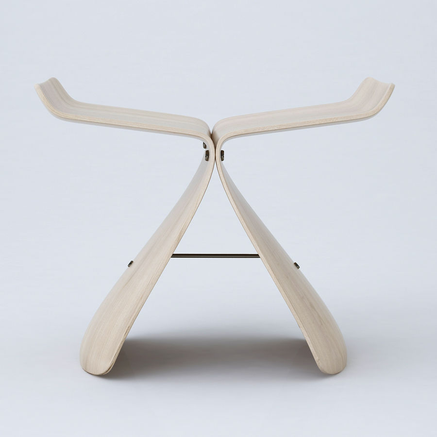 Vitra Butterfly Stool royalty-free 3d model - Preview no. 5