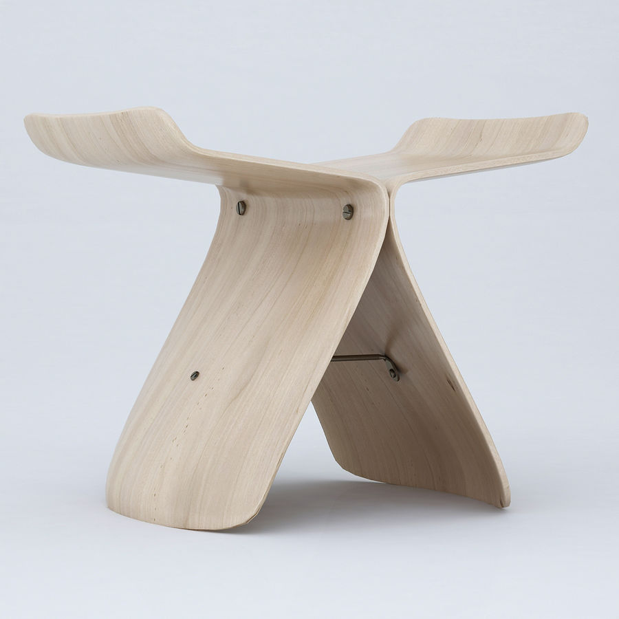Vitra Butterfly Stool royalty-free 3d model - Preview no. 9