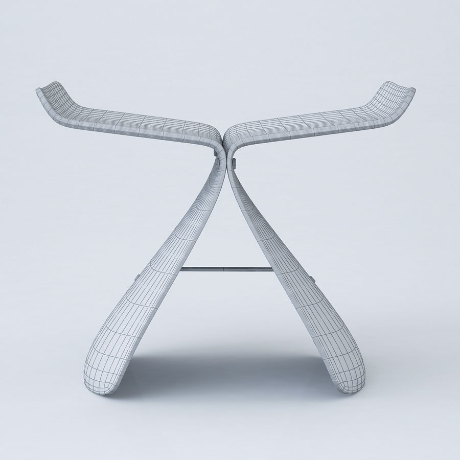 Vitra Butterfly Stool royalty-free 3d model - Preview no. 6