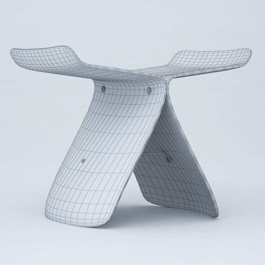 Vitra Butterfly Stool royalty-free 3d model - Preview no. 10