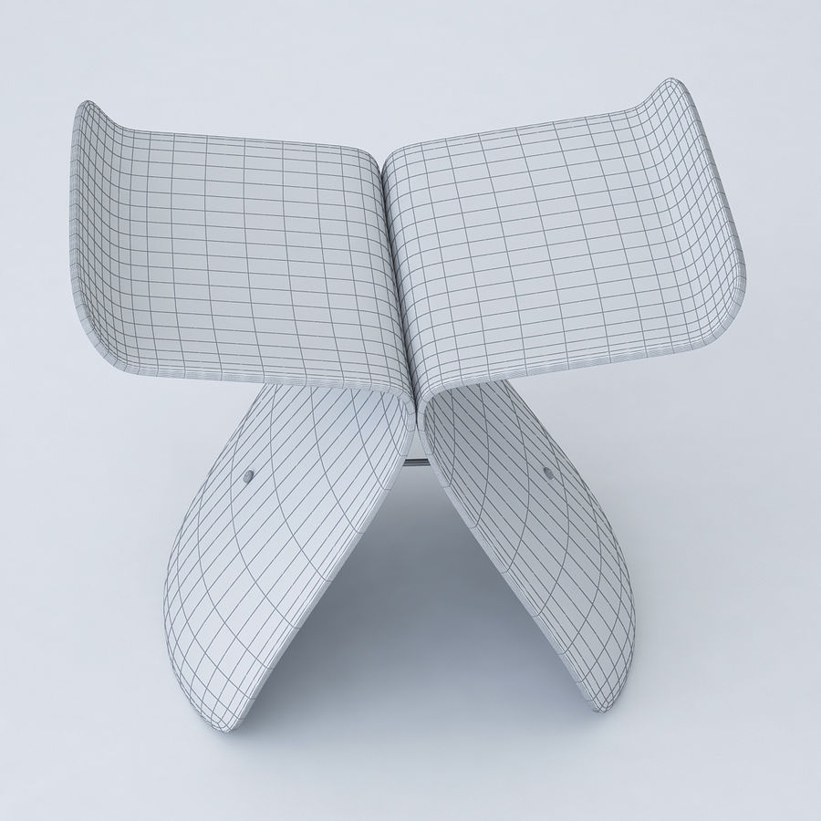 Vitra Butterfly Stool royalty-free 3d model - Preview no. 4