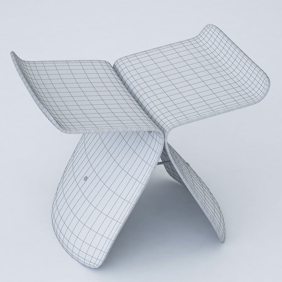 Vitra Butterfly Stool royalty-free 3d model - Preview no. 2