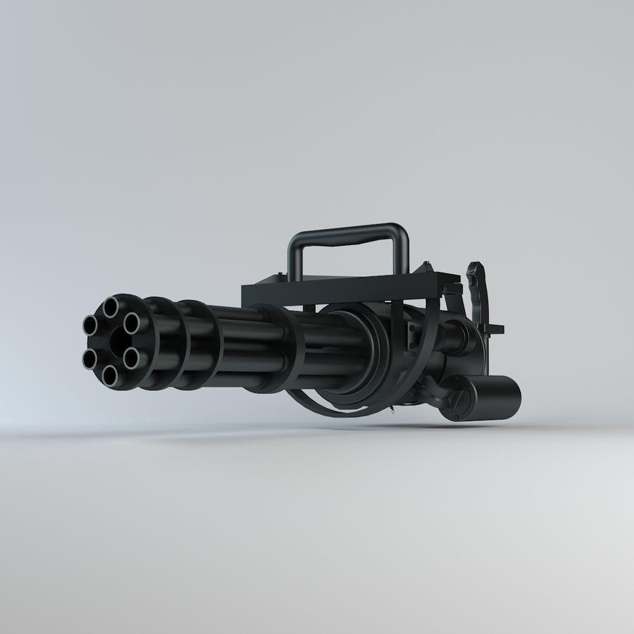 Minigun royalty-free 3d model - Preview no. 4