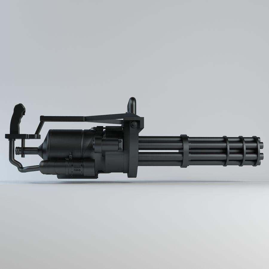 Minigun royalty-free 3d model - Preview no. 2