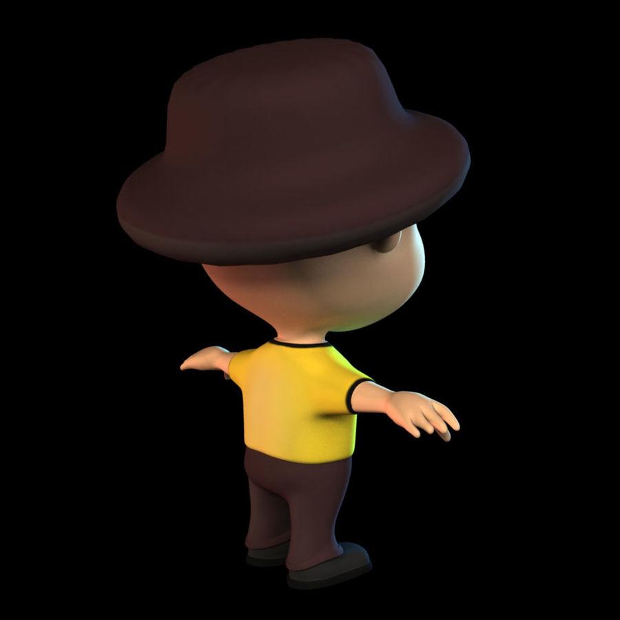 Ragazzo dei cartoni animati royalty-free 3d model - Preview no. 2