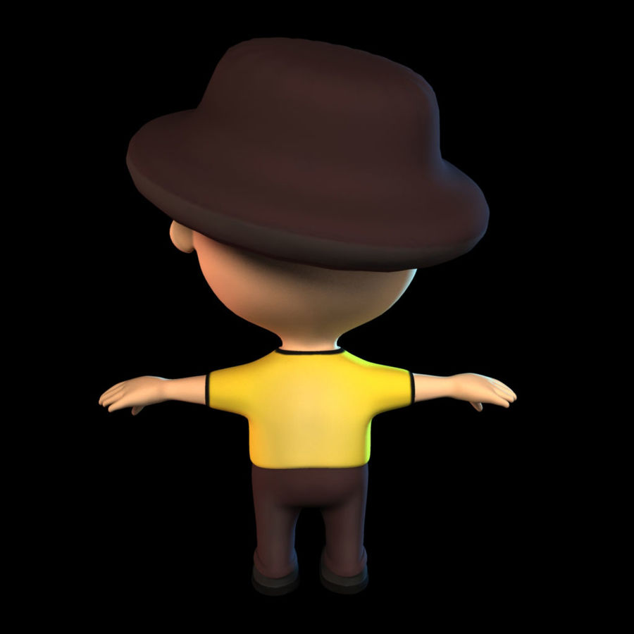 Ragazzo dei cartoni animati royalty-free 3d model - Preview no. 5