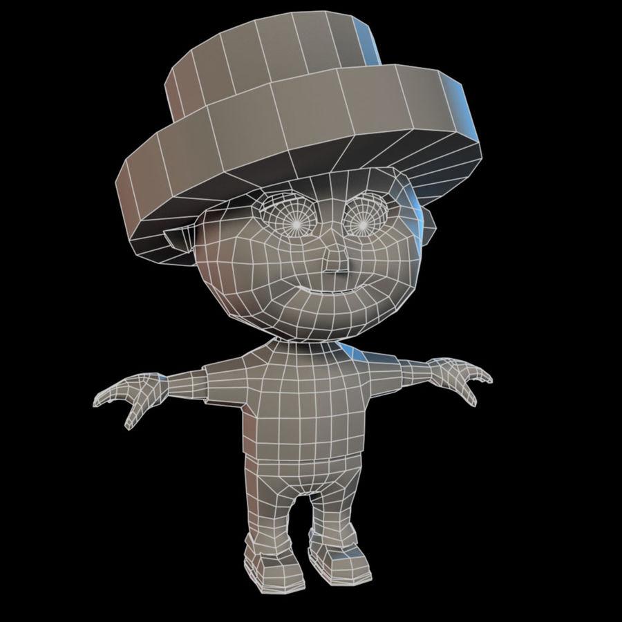 Ragazzo dei cartoni animati royalty-free 3d model - Preview no. 9