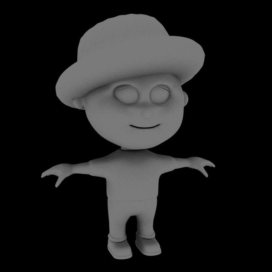 Ragazzo dei cartoni animati royalty-free 3d model - Preview no. 6