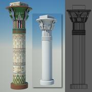 columna egipcia 5 modelo 3d