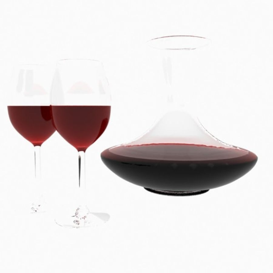 garrafa de vinho royalty-free 3d model - Preview no. 5