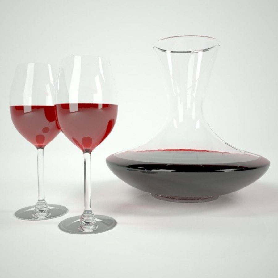 garrafa de vinho royalty-free 3d model - Preview no. 2