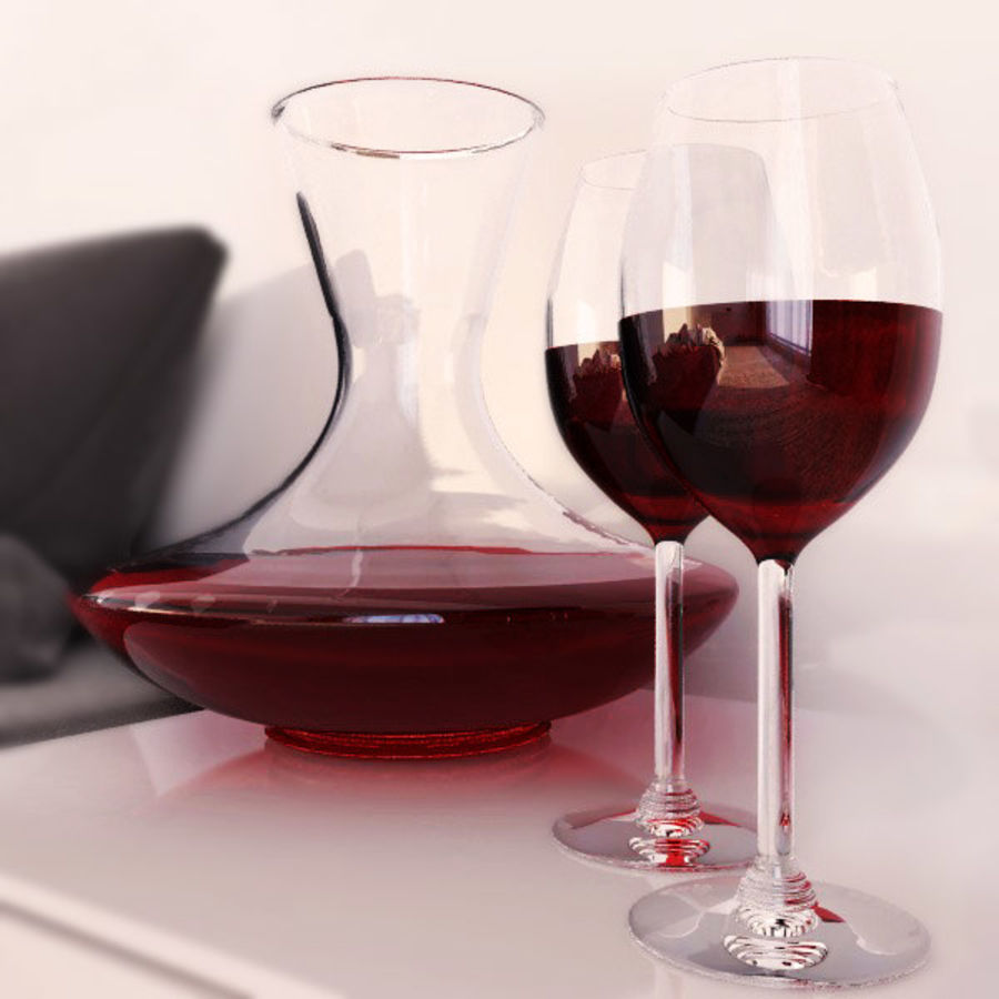 garrafa de vinho royalty-free 3d model - Preview no. 1