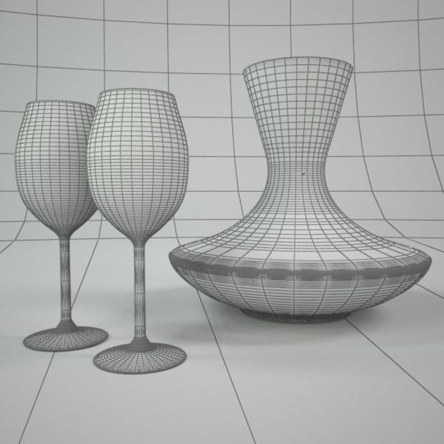 garrafa de vinho royalty-free 3d model - Preview no. 3