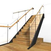 Glas & Holz Treppenhaus 3d model