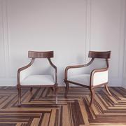 Artistic Frame Klismos armchair 3d model