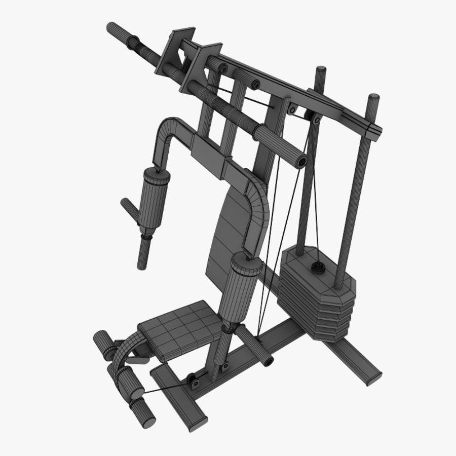 wielofunkcyjna siłownia royalty-free 3d model - Preview no. 11