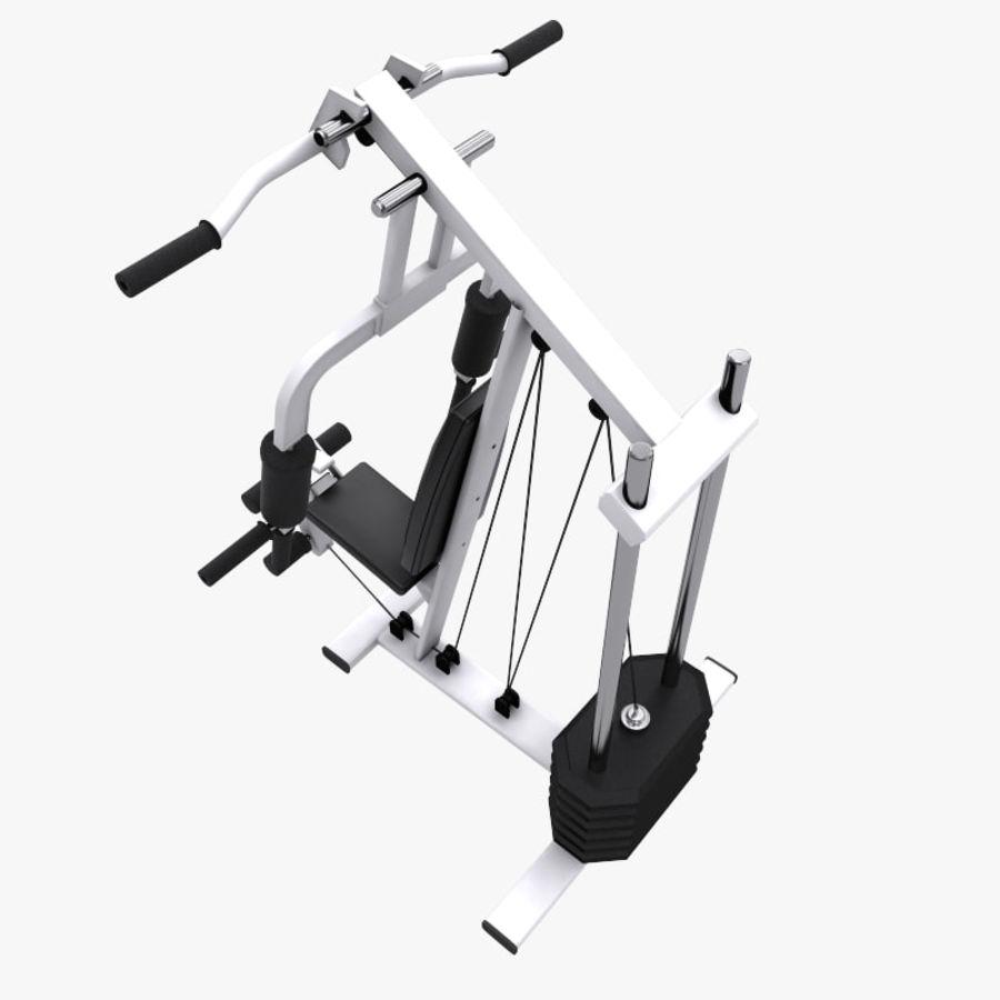 wielofunkcyjna siłownia royalty-free 3d model - Preview no. 6
