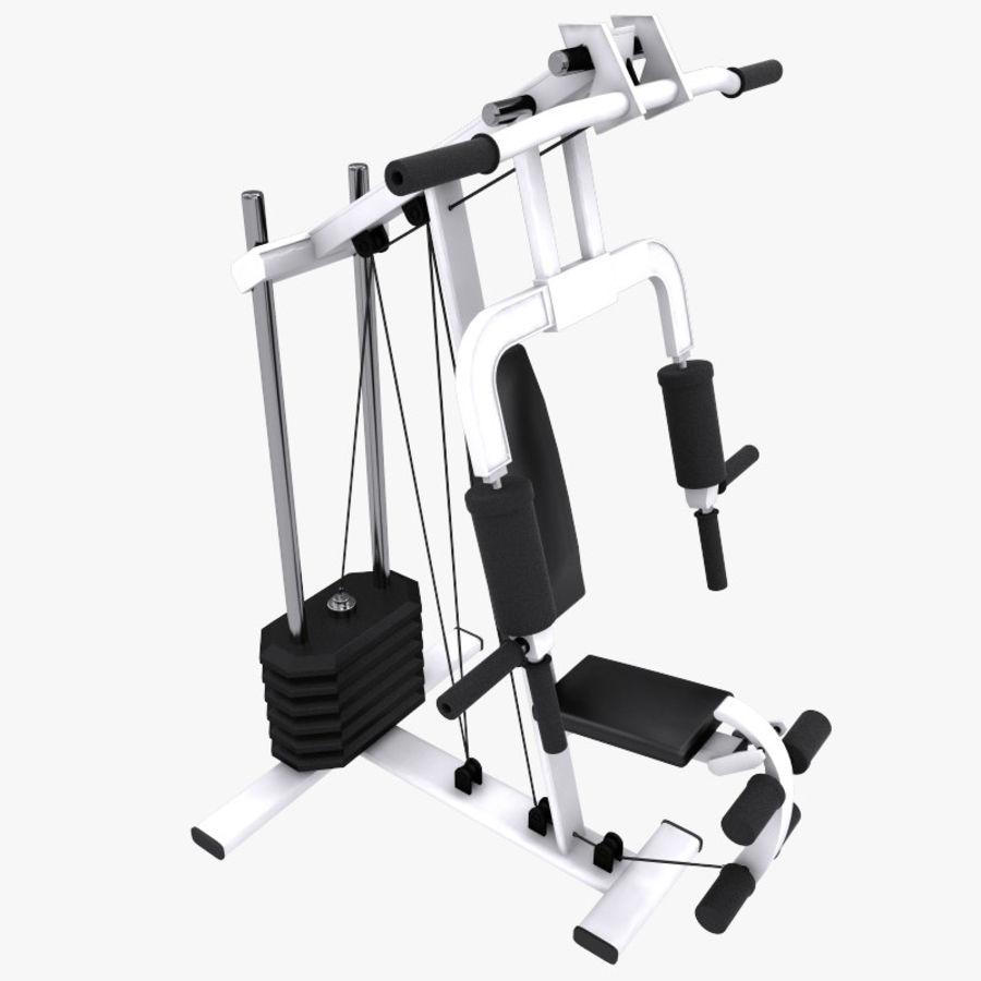wielofunkcyjna siłownia royalty-free 3d model - Preview no. 9