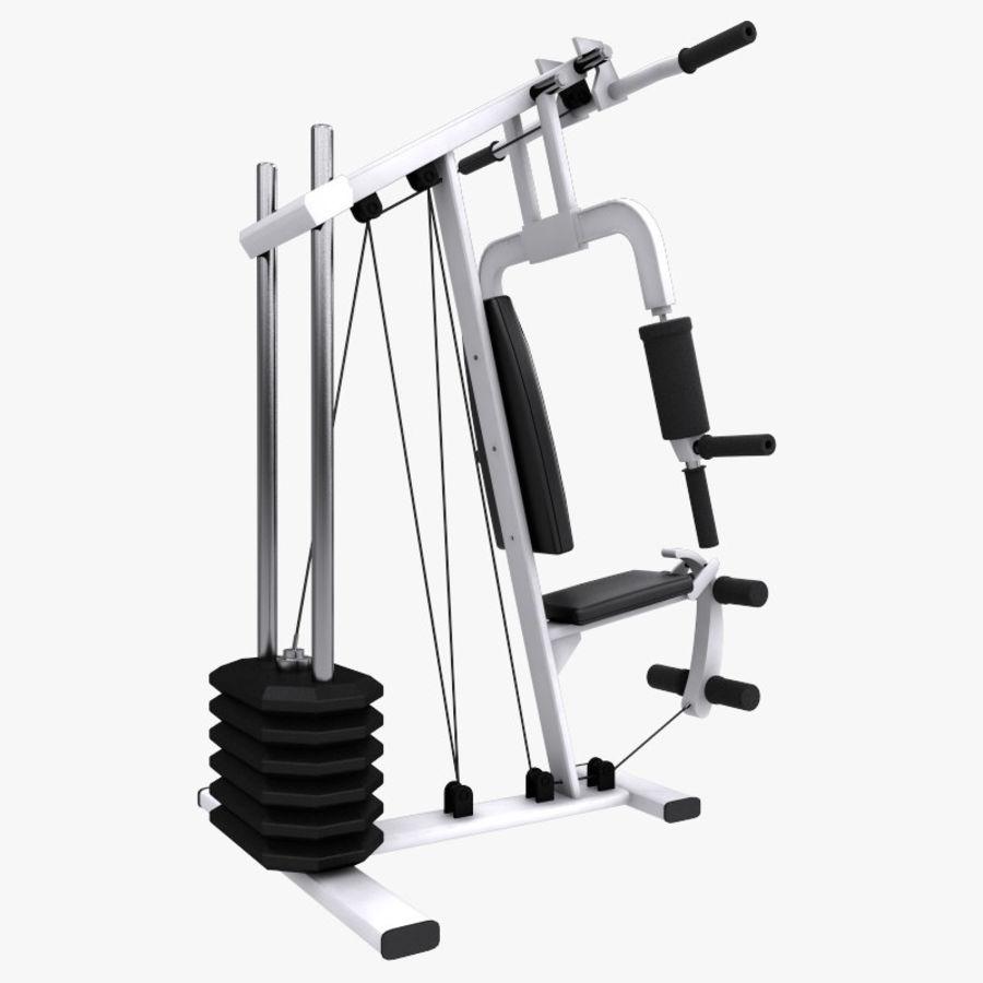 wielofunkcyjna siłownia royalty-free 3d model - Preview no. 3