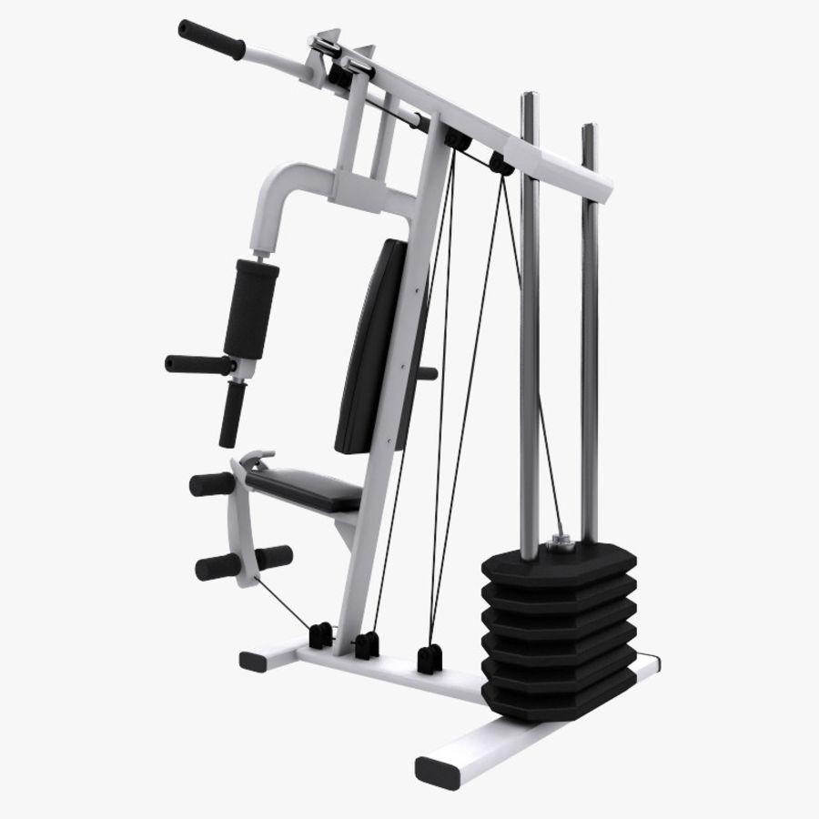 wielofunkcyjna siłownia royalty-free 3d model - Preview no. 5