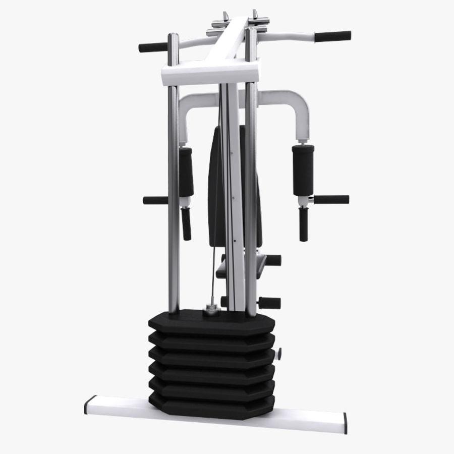 wielofunkcyjna siłownia royalty-free 3d model - Preview no. 4