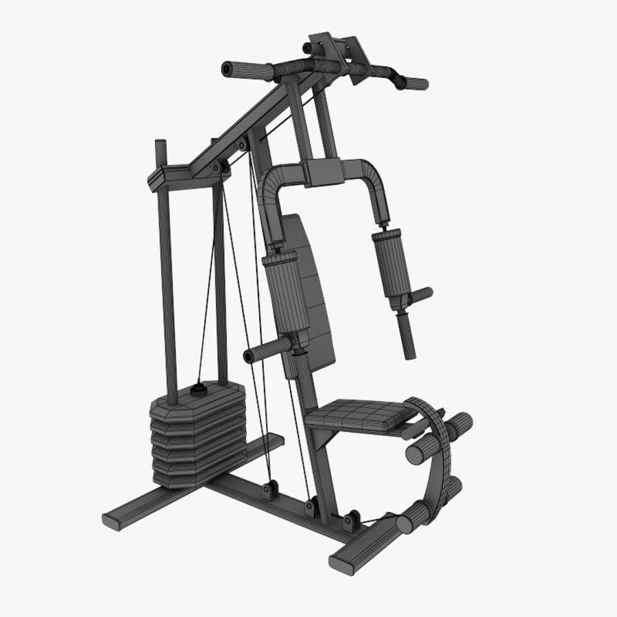 wielofunkcyjna siłownia royalty-free 3d model - Preview no. 10