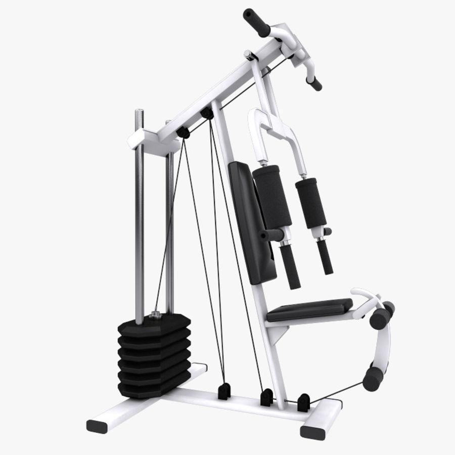 wielofunkcyjna siłownia royalty-free 3d model - Preview no. 2