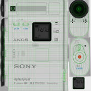 Sony HDR-AS100V action camera 3d model