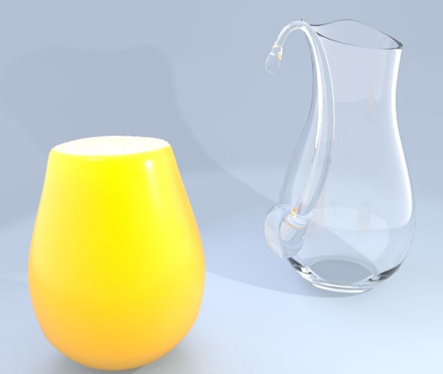 Juice Pitcher 2 royalty-free 3d model - Preview no. 2