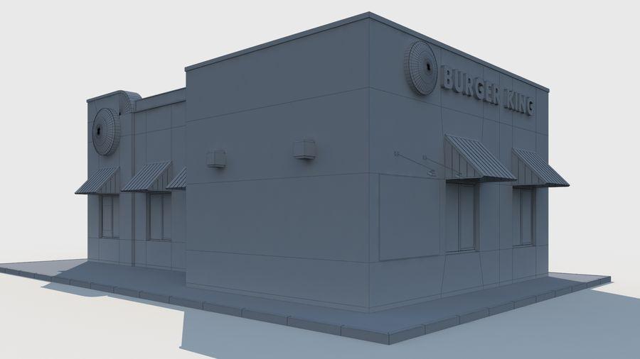 Burger king restaurant royalty-free 3d model - Preview no. 10