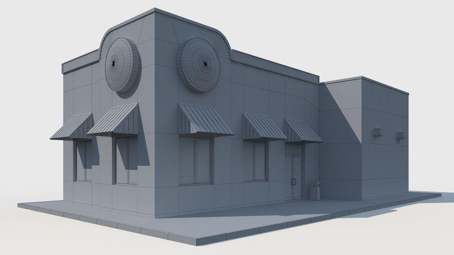 Burger king restaurant royalty-free 3d model - Preview no. 9