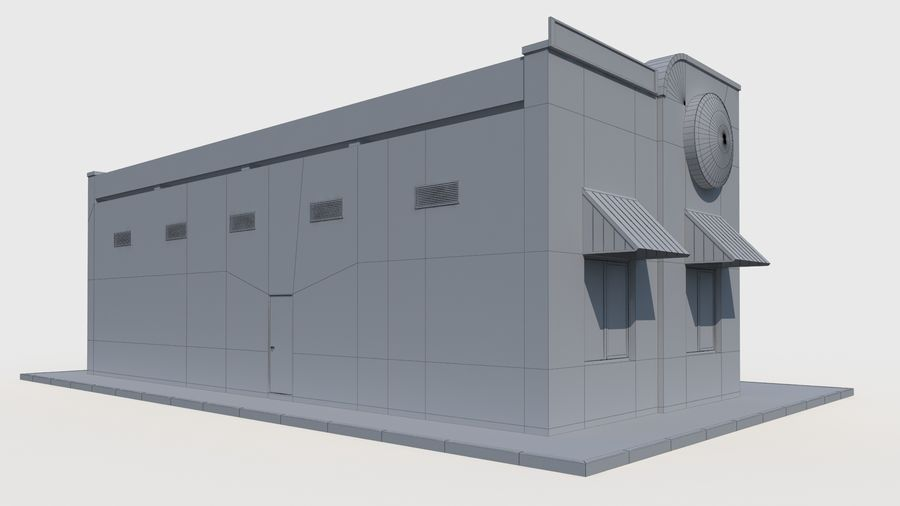 Burger king restaurant royalty-free 3d model - Preview no. 8