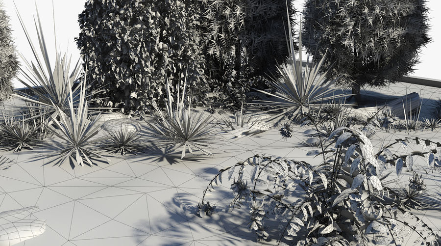 landscape with a pond royalty-free 3d model - Preview no. 9